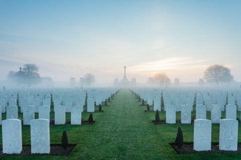 Sunrise at Tyne Cot
